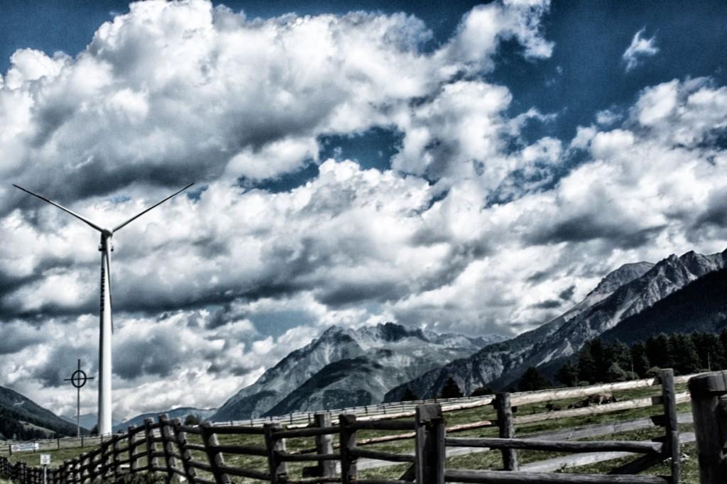 Vindenergi i Alperne - fotograf Claus Sjödin
